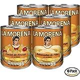La Morena Frutas en Almíbar con Rebanadas de Mango, Mitades de Durazno, Rebanadas de Piña y Coctel de Frutas, 800 g