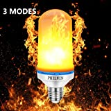 Flame Bulb,PHILWIN E26 Flickering Flame Light Bulbs 3 Modes 99pcs 2835 LED Beads 1900K-2000K 100LM Atmosphere Lighting Decorative Light for Home,Party,Bar,Christmas Decor (1-PACK)