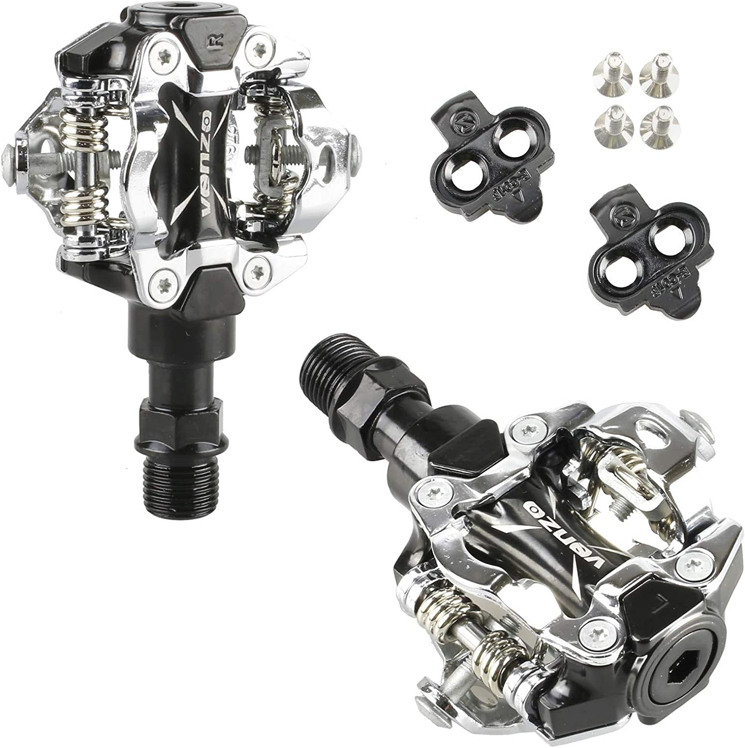 Pedals /& Cleats 43 Venzo Mountain Bike Bicycle Cycling Compatible with Shimano SPD Shoes