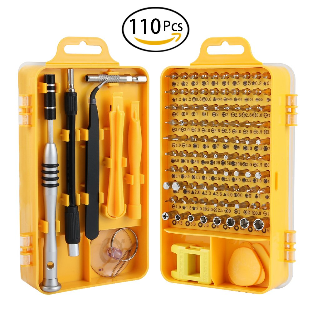 Screwdriver Set, Trekoo 110 in 1 Precision Screwdriver Repair Tool Kit Magnetic Driver Kit Professional Repair Tool Kit for iPhone X, 8, 7 / Cellphone/Computer / Tablet/PC / electronic etc