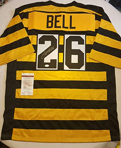 55a92d4566f Le Veon Bell  26 Steelers Bumblebee Autographed Signed Custom Jersey  Memorabilia - JSA Authentic