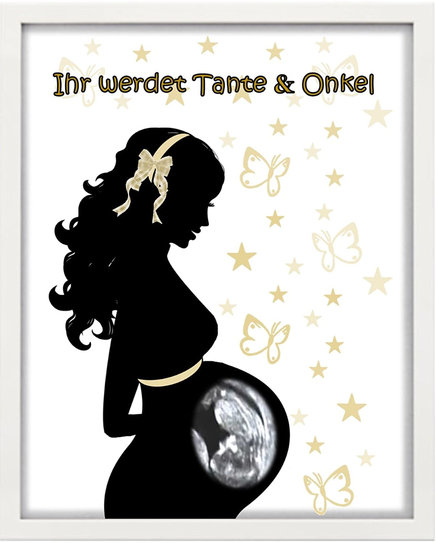 "Geburt Baby /""Du wirst Onkel/"" Geschenk Bilderrahmen personalisiert"