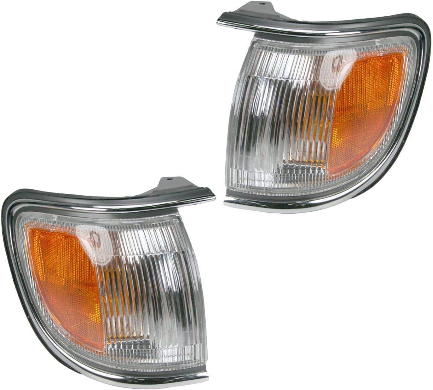 NEW Pair Set Corner Marker Park Light Chrome For 96-99 Nissan Pathfinder