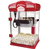 West Bend Hot Oil Theater Style Popcorn Popper Machine with Nonstick Kettle Includes Measuring Tool and Serving Scoop, 4-Ounc