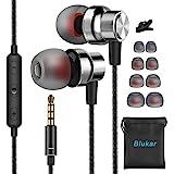 Blukar Auriculares In Ear, Auriculares con Micrófono y Cable Cómodo Reducción Ruido Sonido Estéreo Control de Volumen…