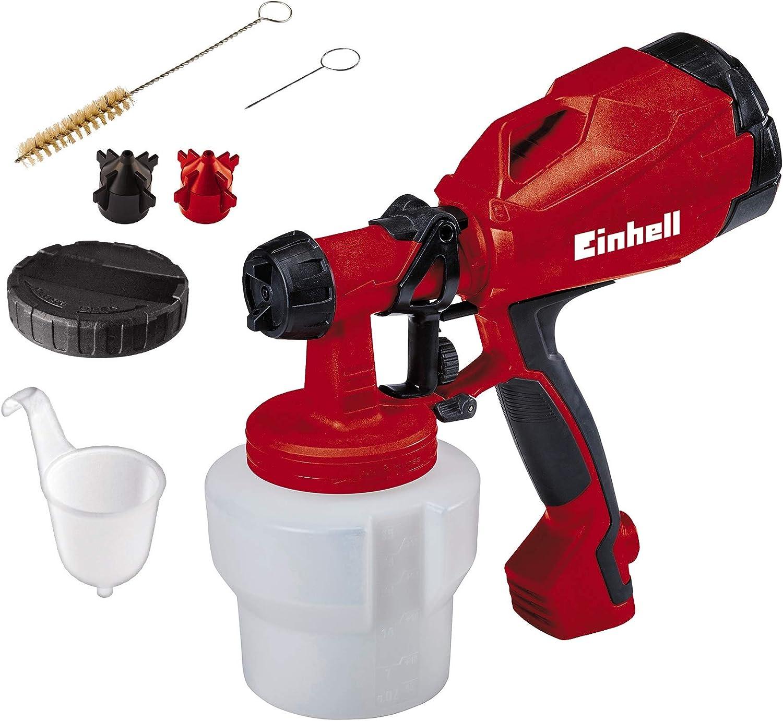 Einhell TC-SY 500 P 1L - Pulverizadores de pintura (Pintura, 1 L, 0,55 l/min, Negro, Rojo, 276 mm, 125 mm)