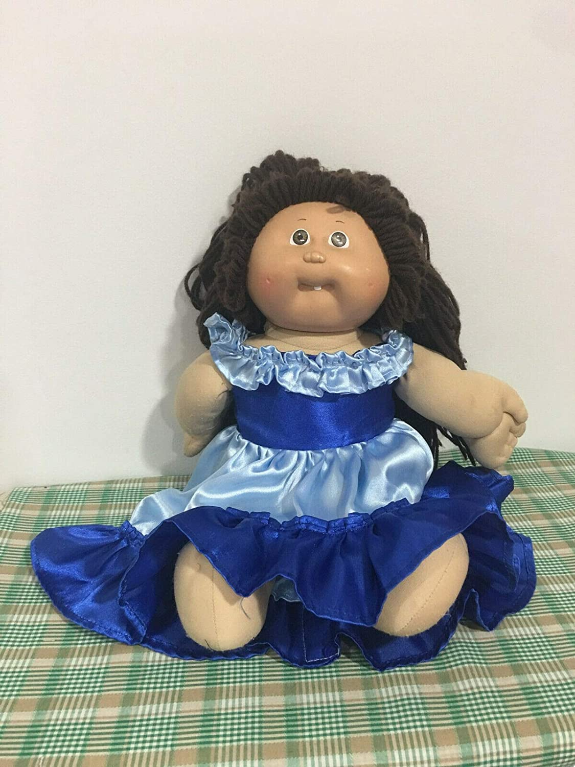 Fits 16 17 18 Cabbage Patch Kids Plush Doll Blue High and Low Party Dress Princess or Fairy Inspired Holiday Costume