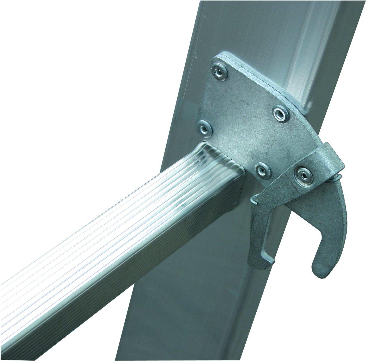 Alu Arbeitsh/öhe 10,1 m,L/änge einteilig 5,2 m 9,15 m 25,5 kg Schiebe-Leiter zweit zweiteilig