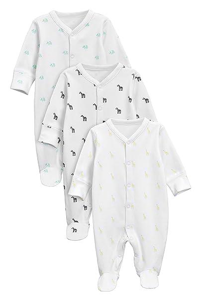 next Bebé-Niños Pack De 3 Pijamas Tipo Pelele con Animales Blanco 1.5-2 años: Amazon.es: Ropa y accesorios