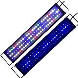 Aquarium Light Full Spectrum 24inch- 32inch LED Fish Tank Light Marine Freshwater Adjustable Aquarium Lighting Lamp (60cm)