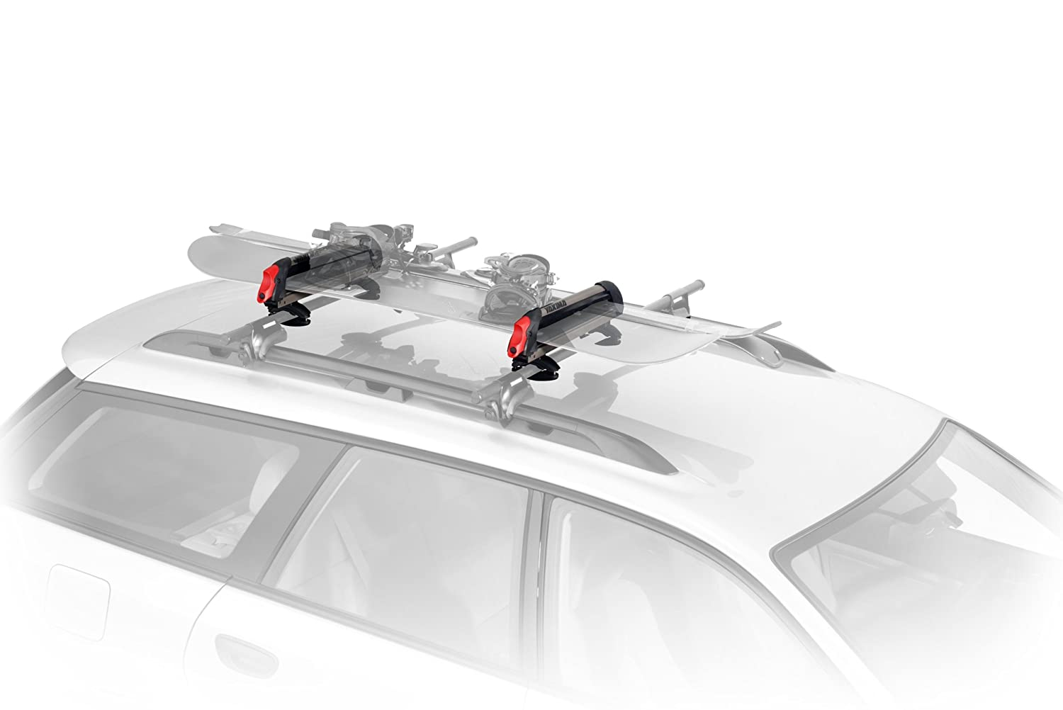 bar through system car black roof rack whispbar yakima racks