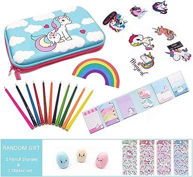 Unicornio Set papeler/ía 6 pzas
