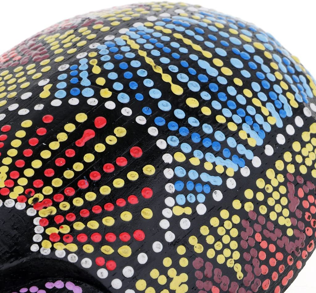 25cm MagiDeal Colgante de Pared de Madera Forma de M/áscara Pintura Colorida Estilo Africano Decoraci/ón de Hogar