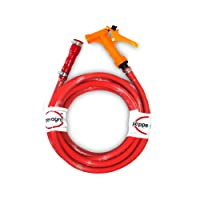 Pepper Agro Double Decker Hose with Single Pattern Spray Gun : 20 Feet Red Color