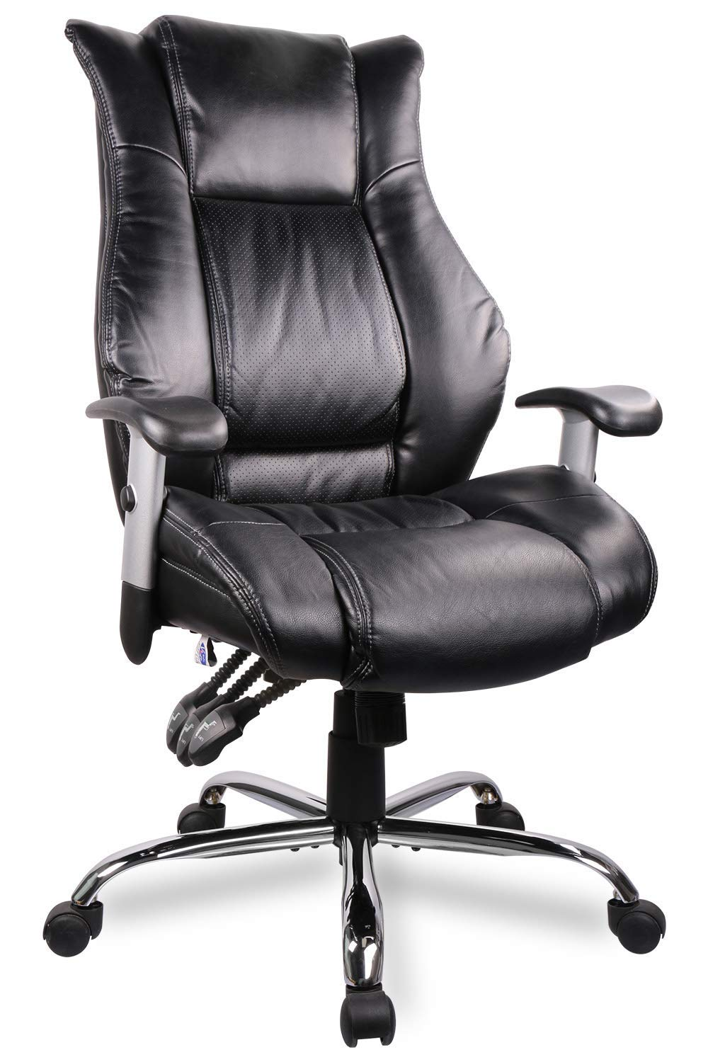 Smugdesk Executive Office Chair Ergonomic Heavy Duty Chair Leather Adjustable Swivel Comfortable Rolling Chair by SMUGDESK