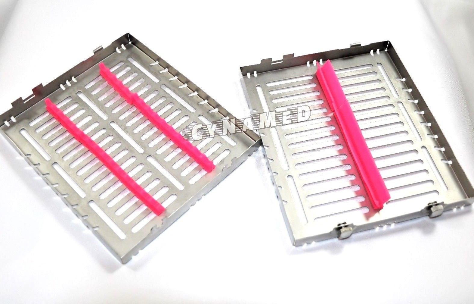 5 German Dental Autoclave Sterilization Cassette Tray for 15 Instruments 8.25X7.25X1.25'' Pink CYNAMED by CYNAMED (Image #5)