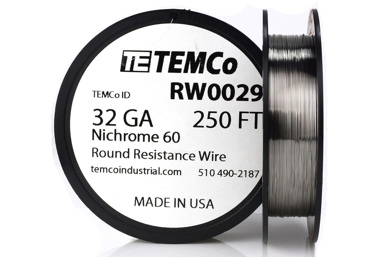 Temco Nichrome 60 Serie Draht 32 Gauge Widerstand AWG GA: Amazon.de ...