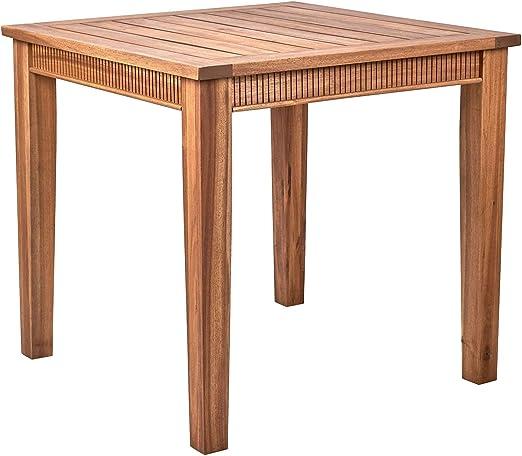 Butlers Acacia Springs Tisch 80x80 In Braun Holztisch Aus Fsc