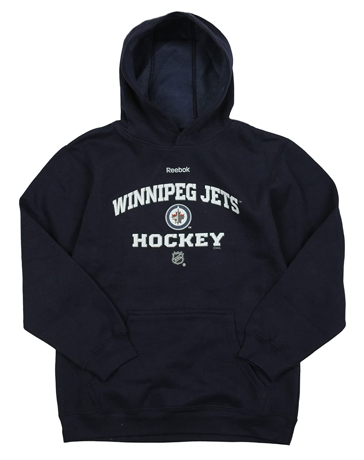 Winnipeg Jets NHL Reebok Youth Navy Fleece Hoodie