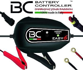 BC Battery Controller BC EASY 6, Cargador de baterías y Mantenedor Inteligente, 6 Ciclos de Carga para todas las Baterías de Coche y Moto 12V de ...