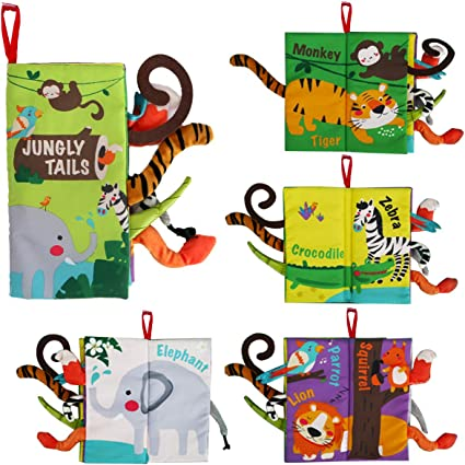 Garden Tail Soft /& Colorful Cloth Book Animal Tail Kids//Baby Readings Toy