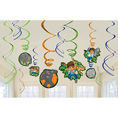 Diego's Biggest Rescue Foil Swirl Value Pack Decorations, Party Favor: Toys & Games