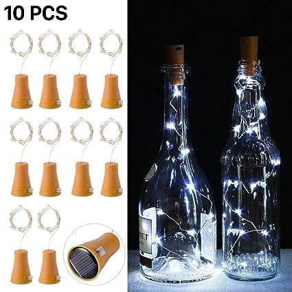 10pcs LED luz de la cadena de luz corcho botella de vino de la luz de