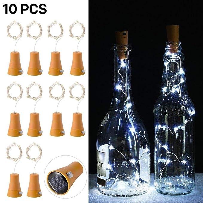 10pcs LED luz de la cadena de luz corcho botella de vino de la luz de hadas con 1M Copper Wire forma lámpara de barra para la botella DIY, fiesta, ...