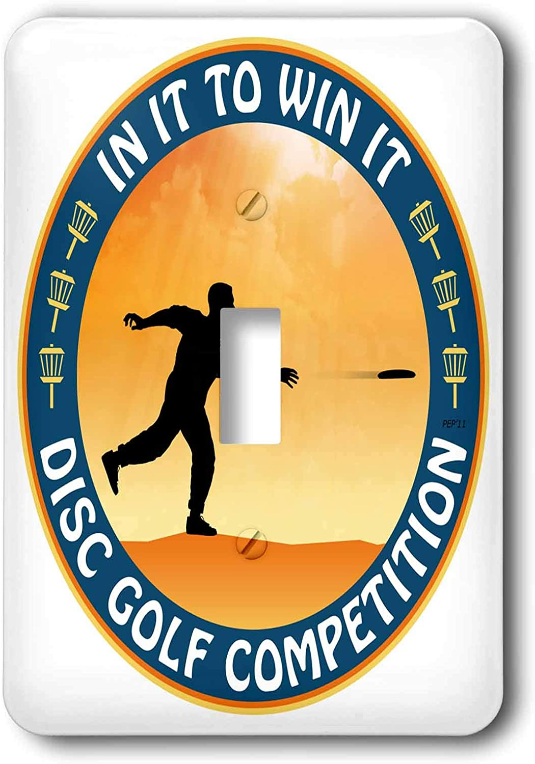 3drose Lsp 21103 1 Disc Golf Competition In It To Win It With Frisbee Disc Golf Player Throwing A Shot Single Toggle Switch Switch Plates Amazon Com