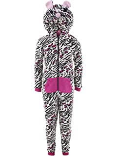 Chili Peppers Girls Pink Hearts Hooded Critter One-Piece Pajamas Blanket Sleeper