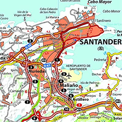 Mapa Zoom Costa de Cantabria (Mapas Zoom Michelin): Vv.Aa, Vv.Aa: Amazon.es: Belleza