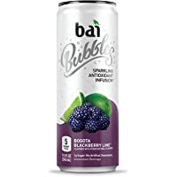 bai Bubbles, Sparkling Water, Bogotá Blackberry Lime, Antioxidant Infused Drinks, 11.5 Fluid Ounce Cans, 12 count