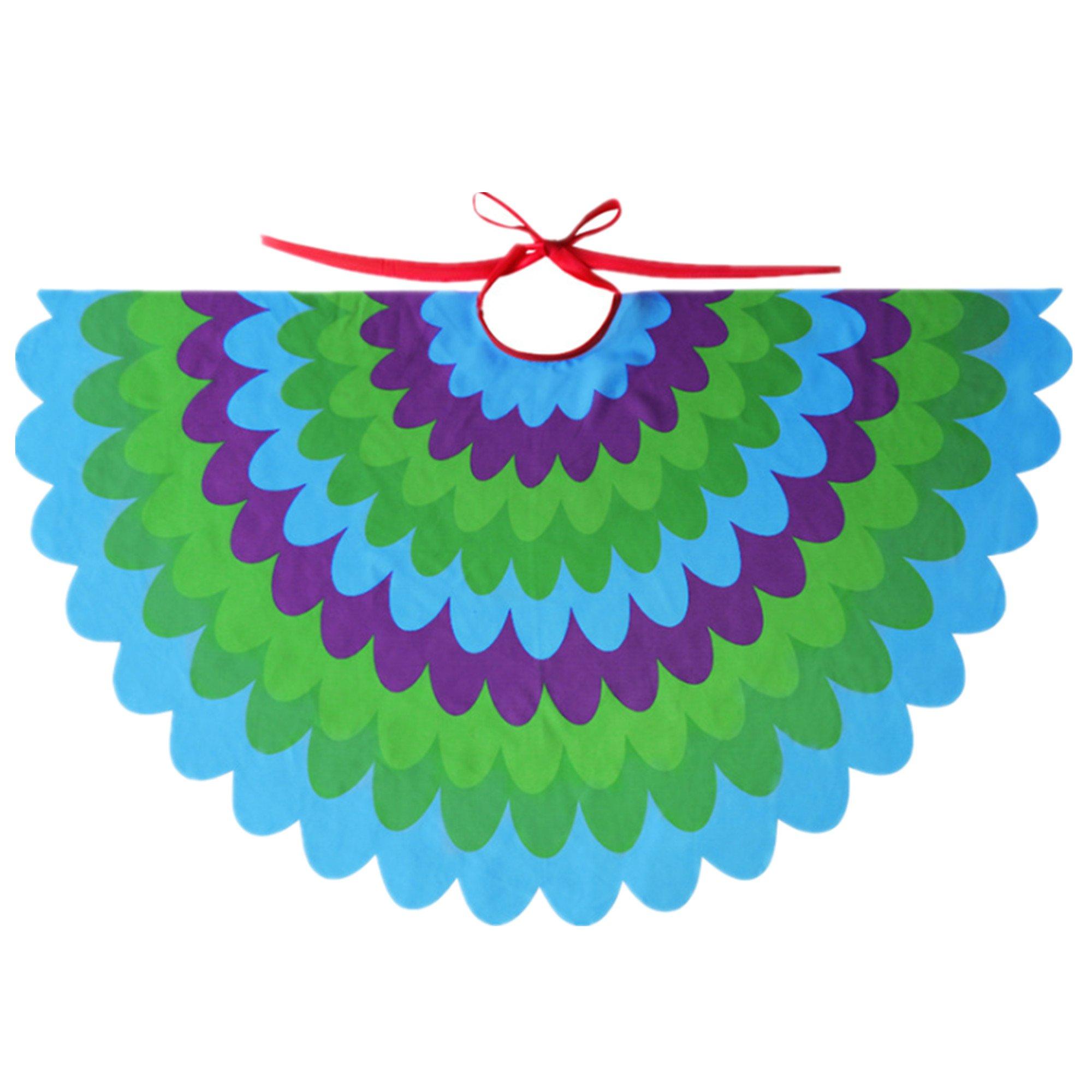 Starkma Bird Fairy Peacock Wings Costume for Kids (F)