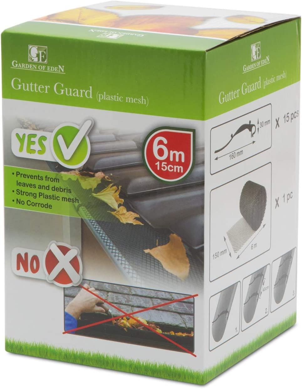 D/&S Vertriebs Protection pour goutti/ère 6 m