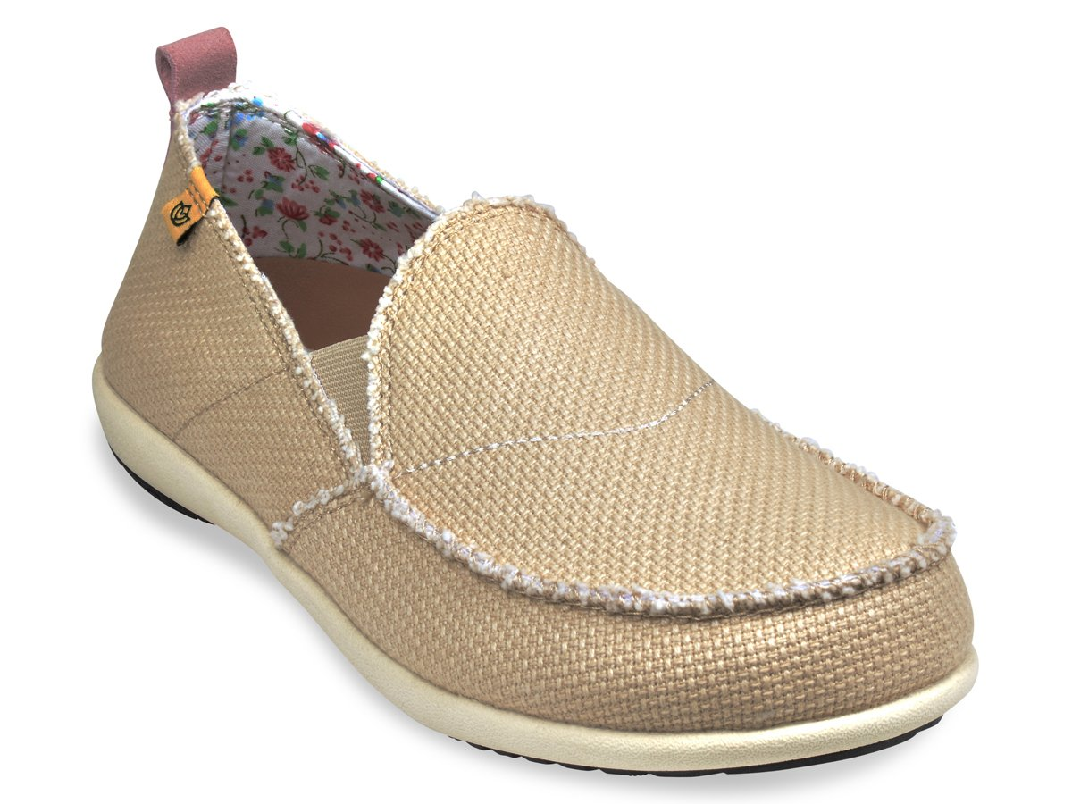 Spenco Siesta - Womens Orthotic Shoes Straw / Calico - 6