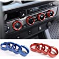 LLKUANG for Toyota Tacoma Air Conditioner Switch CD Button Knob for Toyota Tacoma 2016-2020(Aluminum Alloy Blue)