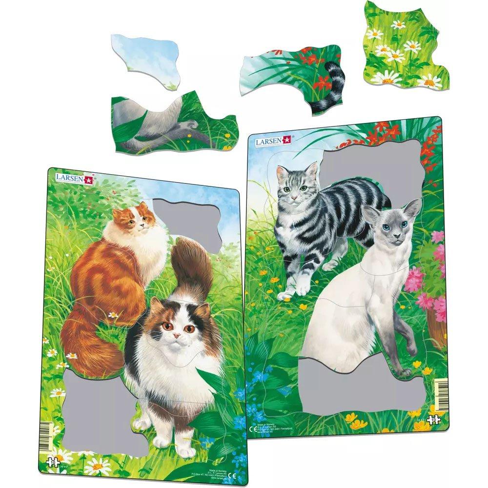 Larsen Cats Puzzles 2x10 Piece