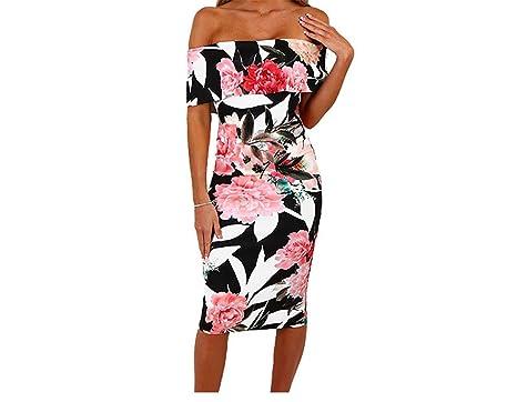 Twilaisaac Fashion elegante floral impressão midi dress mulheres off ombro bodycon dress vestidos verão comprimento do