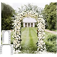 Adorox 7.5Ft 1 Set(Wide/high) Black Metal Arch Wedding Garden Bridal Party Decoration Arbor