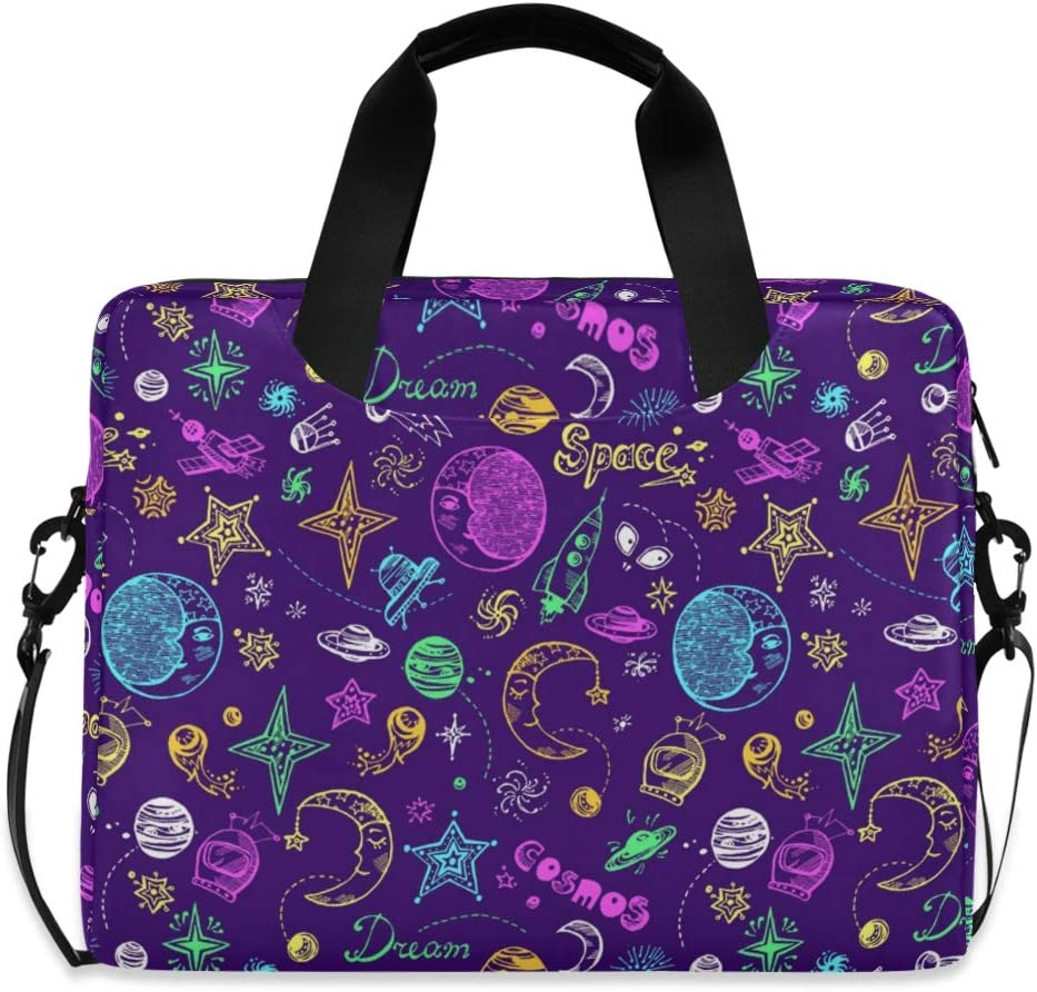 Cute Spring Butterflies Colorful Polka Dot Computer Sleeve Case Laptop Handbags Briefcase with Strap and Handle for Boys Girls Women Men 14 15 15.6 Inch Laptop Bag