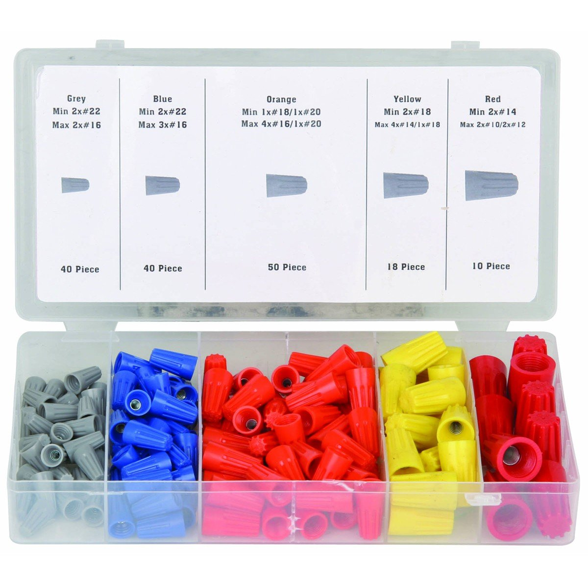 Amazon 158 piece wire connector assortment home improvement keyboard keysfo Image collections