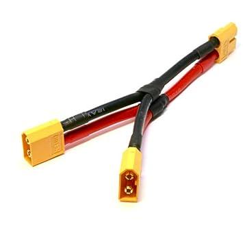 2X XT60 Dual-Erweiterung Parallel Batterie Anschlusskabel fuer DJI Phantom 1 2X