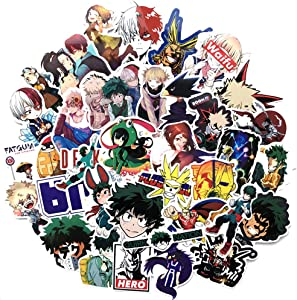 My Hero Academia Sticker 73 PCS PVC Waterproof Stickers for Laptop, Notebooks, Car, Bicycle, Skateboards, Luggage Decoration