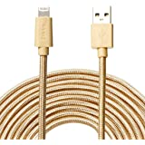 Zikko Long Lightning Cable 16Ft/5M Apple MFi Certified, 2.4A Charge and Sync Nylon Braided for iPhone, iPad, iPod (16Ft)