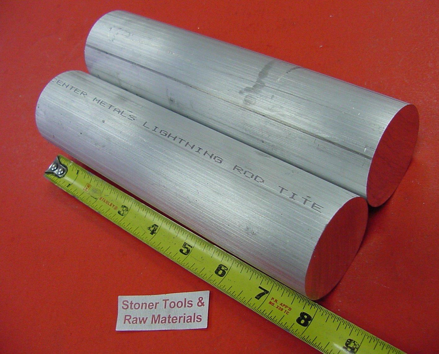 "2-1//4/"" ALUMINUM 6061 T6511 ROUND ROD 10/"" long 2.25 Diameter Lathe Bar Stock"