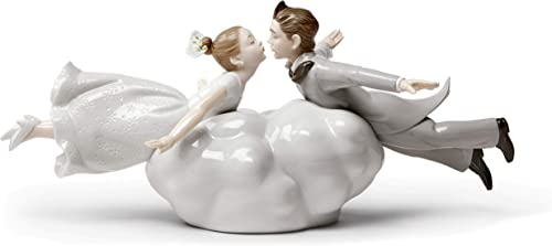 LLADR Wedding in The Air Couple Figurine. Porcelain Couple Figure.