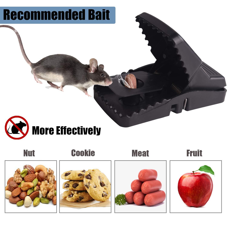 Soontrans 8 Stück Mausefalle Schlagfalle Wiederverwendbar Naturköder Mäusefallen Schnell Tötend Super Empfindlich Rattenfalle