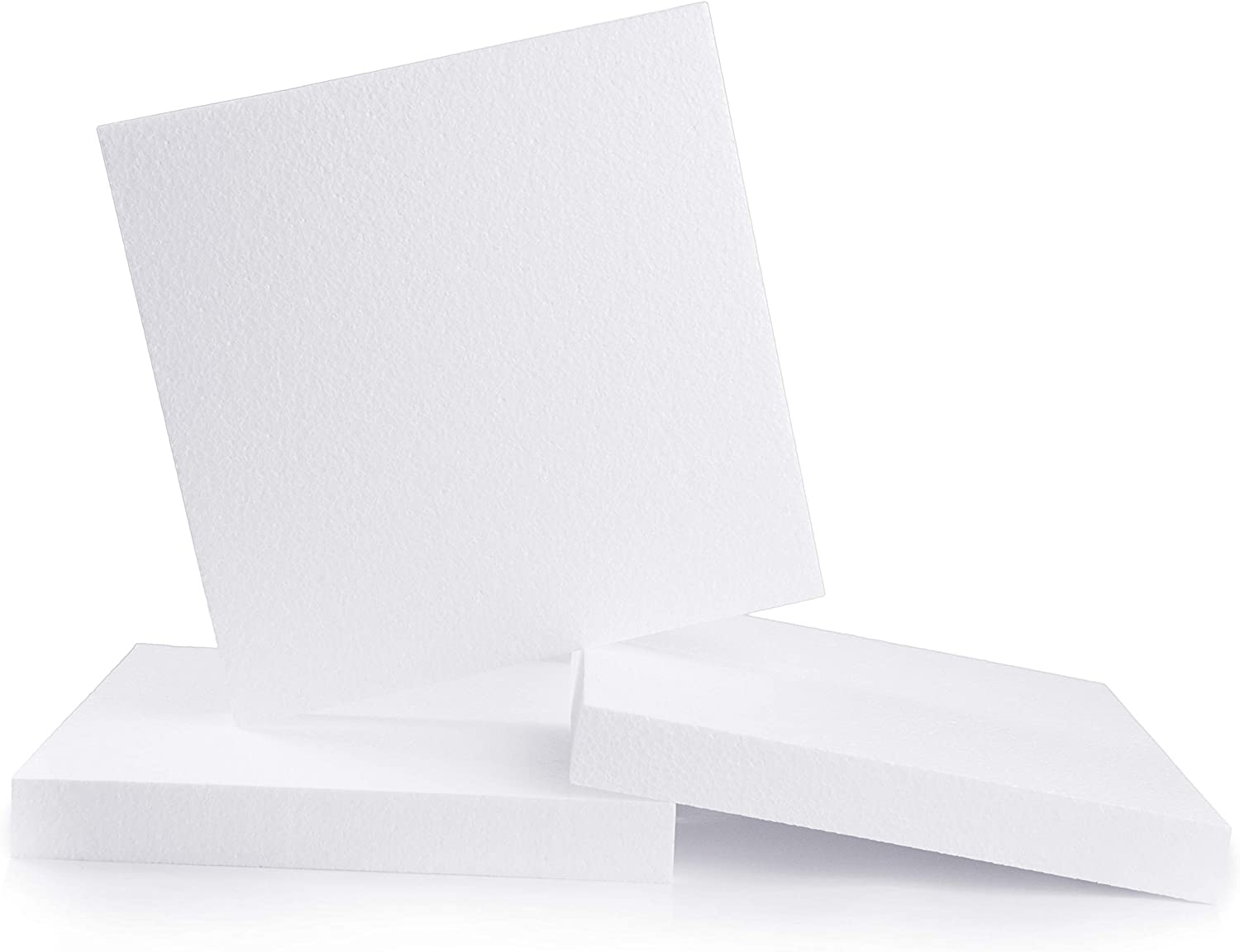 Silverlake Craft Foam Block - 3 Pack of 12x12x1.5 EPS Polystyrene Blocks for Crafting, Modeling, Art Projects and Floral Arrangements - Sculpting Sheet for DIY School & Home Art Projects (3)