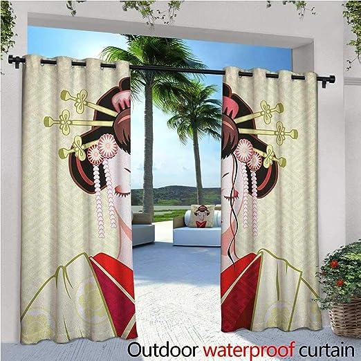 Cortina de privacidad japonesa para exteriores con diseño de ...