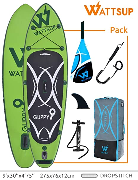 Hinchable Stand Up Paddle Caer Stitch un Lage Wattsup Guppy 9 ...